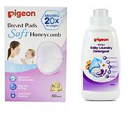 Combo Thấm sữa pigeon 60 miếng hộp + nước giặt pigeon 500ml thumbnail