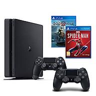 Bộ Playstation 4 Slim Model 2218B ( 1000gb) Tặng Kèm 2 Đĩa Game Spider-man Và Godofwar 4 + 1 Tay Cầm Thêm - Hàng Chính Hãng thumbnail