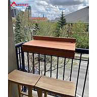 Bàn gỗ treo ban công, bàn treo ban công chung cư đẹp thumbnail