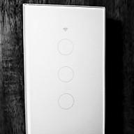 Công tắc cảm ứng wifi điều khiển từ xa Smart Life màu Trắng 3 gang - Hàng nhập khẩu thumbnail