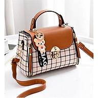 Túi đeo vai nữ công sở đính hình gấu xinh thumbnail