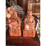 Thần tài thổ địa gỗ hương cao 20cm, thích hợp thờ cúng bàn thờ thần tài thổ địa thumbnail