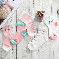 Set 5 đôi Tất vớ cotton cho bé thấm hút mồ hôi hiệu quả thumbnail
