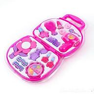 Bộ vali phụ kiện trang điểm cho búp bê ( Tặng 5 cặp dây cột tóc cho bé ) thumbnail