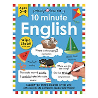 Priddy Learning 10 Minute English Wipe Clean Workbook (Ages 5+) thumbnail