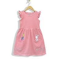 Đầm Bé Gái Tay Cánh tiên MEEJENA 11-26 kg Váy Bé Gái Vải Thun Sọc Tùng Xòe 2-9 tuổi Váy cho bé gái eo nhún, in hình mèo xinh xắn Đầm Trẻ Em Sọc Nhún Eo Dễ Thương Đầm Thun Cho Bé Gái-1788 - Đỏ - 6 ( 14-18 kg ) thumbnail