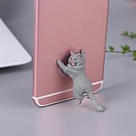 Giá hút, đỡ điện thoại đa năng hình chú mèo tạo hình độc đáo, đáng yêu thumbnail