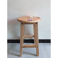 Ghế ngồi gỗ tự nhiên VIMOS cao 60cm -Tặng quạt USB( màu ngẫu nhiên) thumbnail