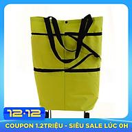 Túi vải cao cấp đi chợ có 2 bánh xe kéo đa năng tặng túi đựng điện thoại chống nước đi biển thumbnail
