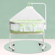 Cũi kề giường đa năng cho bé, nôi di động, giường cũi đa năng (xanh) thumbnail