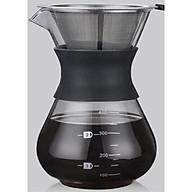 Bình pha cafe Drip Coffee 400ml kèm phễu lọc Inox thumbnail