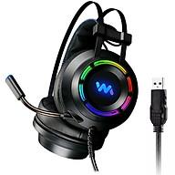 Tai Nghe Chụp Tai Chuyên Game WM 9800S Âm Thanh 7.1 - Led RGB - Jack Cắm USB thumbnail