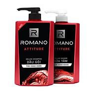 Combo Romano Attitude Dầu gội 650g, sữa tắm 650g, xịt khử mùi 150ml+ Tặng kèm lăn khử mùi 40ml thumbnail