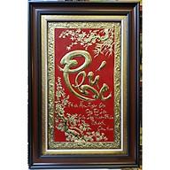 Tranh đồng vàng nguyên chất liền tấm thư pháp chữ PHÚC-A215 thumbnail