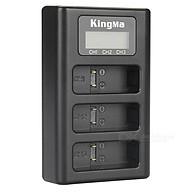 Đốc sạc 3 pin GoPro Hero 5 6 7 có màn hình LCD KINGMA BM043 - Hàng chính hãng thumbnail