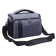 Túi đựng máy ảnh DSLR Canon, Nikon, Sony (Xám) thumbnail