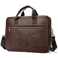 Túi xách cặp da đựng laptop da bò cao cấp T16 40x29x7cm (Nâu đậm - Nâu sáng - Đen) thumbnail