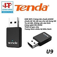Tenda U9 USB kết nối Wifi U9 chuẩn AC tốc độ 650Mbps - Hàng Chính Hãng thumbnail