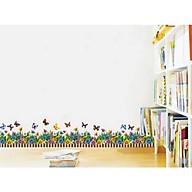 Decal dán tường chân tường hoa bướm có sẵn keo CT15 thumbnail