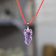 Vòng cổ nữ Hồ Ly đuôi dài Pha Lê tím móc bạc thumbnail