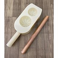 Combo Khuôn Làm Bánh Bao 2 Kích Cở 6cm & 7,5cm + Cán Lăn Bột Gỗ 30cm thumbnail
