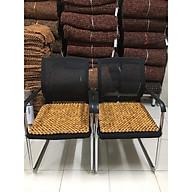 Combo 2 tấm chiếu hạt gỗ Pơ Mu , Lót ghế xoay văn phòng hạt gỗ pơ Mu hạt 18ly ( Sản phẩm y hình mô tả - hình thật ) thumbnail