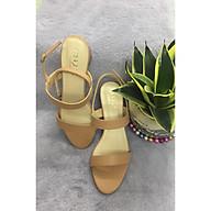 Giày sandal quai ngang thời trang gót vuông thumbnail