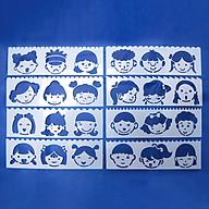 Bộ 8 Thước Vẽ Mỹ Thuật Trang Trí Sáng Tạo - Khuôn Mặt thumbnail