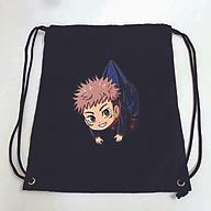 Balo dây rút đen in hình JUJUTSU KAISEN anime chibi ver TREO túi rút đi học xinh xắn thời trang thumbnail