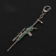 Móc khóa mô hình trong Game PUBG mẫu mini14 xanh lá thumbnail