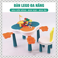 BÀN XẾP HÌNH LEGO ĐA NĂNG, LÀ BÀN HỌC,BÀN XẾP HÌNH CÓ NGĂN CẤT ĐỒ CHƠI CHO BÉ thumbnail