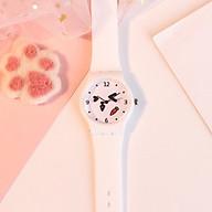 Đồng hồ thời trang nam nữ Slcht mặt tròn hình thú dây Slilicon cá tính Stt996 thumbnail
