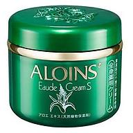 Kem dưỡng trắng da toàn thân lô hội Aloins Eaude Skin Cream S 185g, Nắp xanh Nhật Bản thumbnail