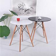 2 chiếc bàn cafe mặt tròn màu đen và trắng cao cấp (mã 002) thumbnail