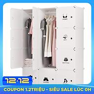 Tủ nhựa đa năng 12 ô xếp kiểu 3-3-3-3 TNĐN-12-1 thumbnail
