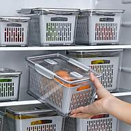 hộp đựng thực phẩm tủ lạnh 2 lớp size 1,7L - giao màu ngẫu nhiên thumbnail
