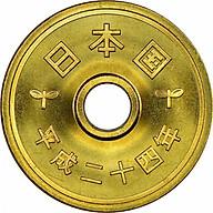 Đồng Xu Phong Thủy 5 Yên Nhật May Mắn Kèm Miếng Dán Mèo Vàng Thần Tài thumbnail
