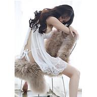 Váy ngủ hai dây voan ren hoa ngực kèm quần chữ T siêu gợi cảm thumbnail