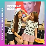 Áo Croptop nữ cute , có thể mặc thành áo cặp bạn thân, chất thun cotton 100% cao cấp , ÁO THUN NỮ FREESIZE DƯỚI 50KG thumbnail