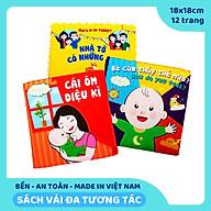 Sách vải giáo dục đầu đời cho bé - Bộ 3 sách Bé cảm thấy thế nào , Nhà tớ có những ai , Cái ôm diệu kỳ. Kích thước 18x18cm, 12 trang. Giáo dục bé về cảm xúc - gia đình, CHÍNH HÃNG Lalala Baby, Made in Việt Nam thumbnail