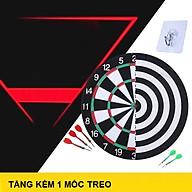 Ba ng Phóng Phi Tiêu-Trò Chơi Phi Tiêu Loại 27cm 2 Mặt Gỗ Kèm 5 Phi Tiêu (Tặng kèm móc treo) The Professional 15 Inch 2-Sided Needle Darts Board with 6 Color Darts thumbnail