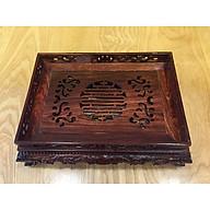 Khay trà gỗ cẩm lai nhỏ thumbnail