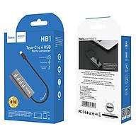 Bộ Chuyển Đổi Hoco HB1 Type-C sang 4 Cổng USB 2.0 - Hàng chính hãng thumbnail