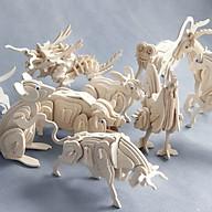 Đồ chơi lắp ráp gỗ 3D Mô hình 12 Con Giáp thumbnail