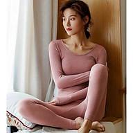 Bộ len tăm giữ nhiệt, áo len nữ, bộ quần áo thu đông nữ,bộ ngủ dài tay chất đẹp mềm mịn thumbnail