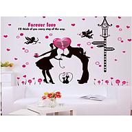 decal dán tường nụ hôn tình nhân xl8123 thumbnail