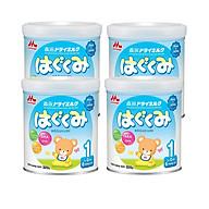 Combo 4 hộp Sữa Morinaga Số 1 - Hagukumi (320g) mới bổ sung ARA - Tặng túi đeo chéo thumbnail