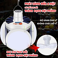 Đèn Led Tích Điện Năng Lượng Mặt Trời 4 Cánh 40w Hiển Thị Dung Lượng Pin thumbnail