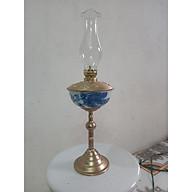 Đèn thờ dầu men lam vẽ Rồng Phượng bọc đồng gốm sứ Bát Tràng thumbnail