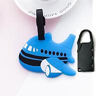 Thẻ treo vali, thẻ hành lý hình hoạt hình cute (giao hàng ngẫu nhiên) + Khóa bảo vệ thumbnail